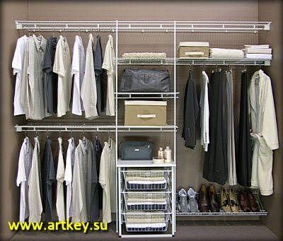 Производство мебели для гардеробной комнаты на заказ в Петербурге и Ленинградской области