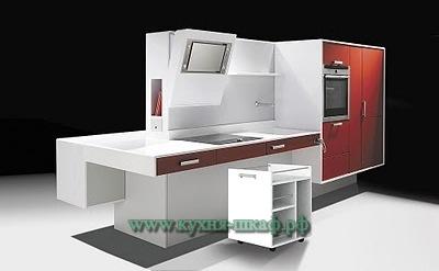 Производство кухонной мебели в стиле hi-tech на заказ в Петербурге