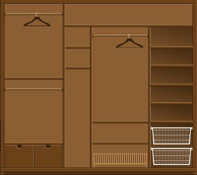 Шкаф-купе в прихожую Массив модерн цвет венге - Мебель на заказ изготовление