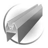 Нижний соединитеьный профиль дверей купе подвесных