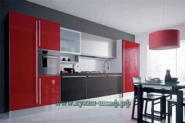Изготовление кухонной мебели в стиле hi-tech на заказ в Петербурге